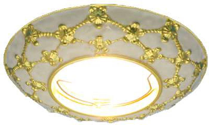 Светильник встраиваемый неповоротный ITALMAC Regal 51 3 46, литой, MR16, цвет: цвет: белый, золотистый. IT8458 растровые встраиваемые светильники 3х14w встраиваемый 600х600