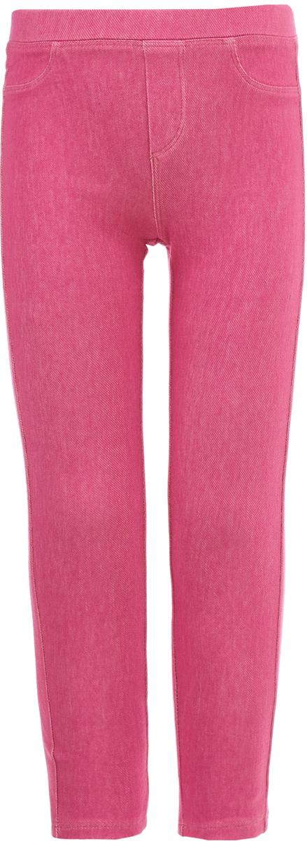 Леггинсы для девочки Button Blue, цвет: розовый. 118BBGC56041200. Размер 122118BBGC56041200Детские леггинсы - удобная и практичная одежда для лета. Купить леггинсы для девочки, значит обеспечить ее модным и функциональным предметом гардероба, который можно носить с повседневной одеждой или использовать для активного отдыха. Эти леггинсы имитируют брюки, благодаря чему являются идеальной вещью на каждый день.
