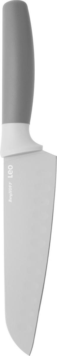 Нож сантоку BergHOFF, цвет: серый, длина лезвия 17 см3950038Нож сантоку BergHOFF изготовлен из нержавеющей стали. Мягкая ручка выполнена из полипропилена. Рекомендуется мыть вручную.
