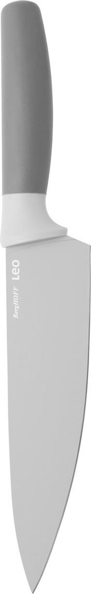 Нож поварской BergHOFF, цвет: серый, длина лезвия 19 см3950039Нож поварской BergHOFF изготовлен из нержавеющей стали. Мягкая ручка выполнена из полипропилена. Рекомендуется мыть вручную.