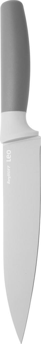 Нож для мяса BergHOFF, цвет: серый, длина лезвия 19 см3950040Нож для мяса BergHOFF изготовлен из нержавеющей стали. Мягкая ручка выполнена из полипропилена. Рекомендуется мыть вручную.
