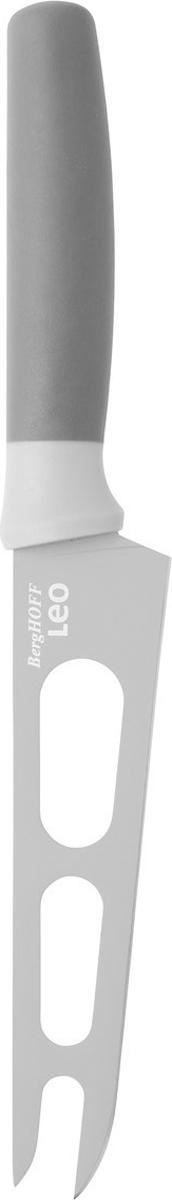 Нож для сыра BergHOFF, цвет: серый, длина лезвия 13 см3950044Нож для сыра BergHOFF изготовлен из нержавеющей стали. Мягкая ручка выполнена из полипропилена. Антипригарное покрытие.Рекомендуется мыть вручную.