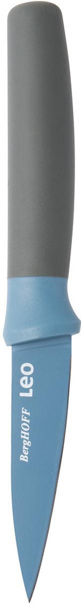 Нож для очистки овощей BergHOFF, цвет: синий, длина лезвия 8,5 см3950105Нож для очистки овощей BergHOFF изготовлен из нержавеющей стали. Мягкая ручка выполнена из полипропилена. Рекомендуется мыть вручную.