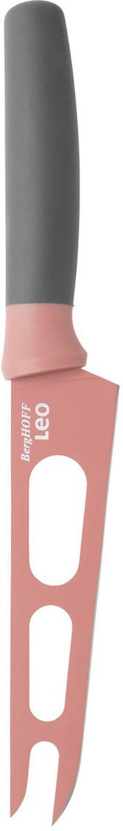Нож для сыра BergHOFF, цвет: розовый, длина лезвия 13 см3950108Нож для сыра BergHOFF изготовлен из нержавеющей стали. Мягкая ручка выполнена из полипропилена. Рекомендуется мыть вручную.