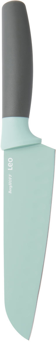 Нож сантоку BergHOFF, цвет: мятный, длина лезвия 17 см3950109Нож сантоку BergHOFF изготовлен из нержавеющей стали. Мягкая ручка выполнена из полипропилена. Рекомендуется мыть вручную.