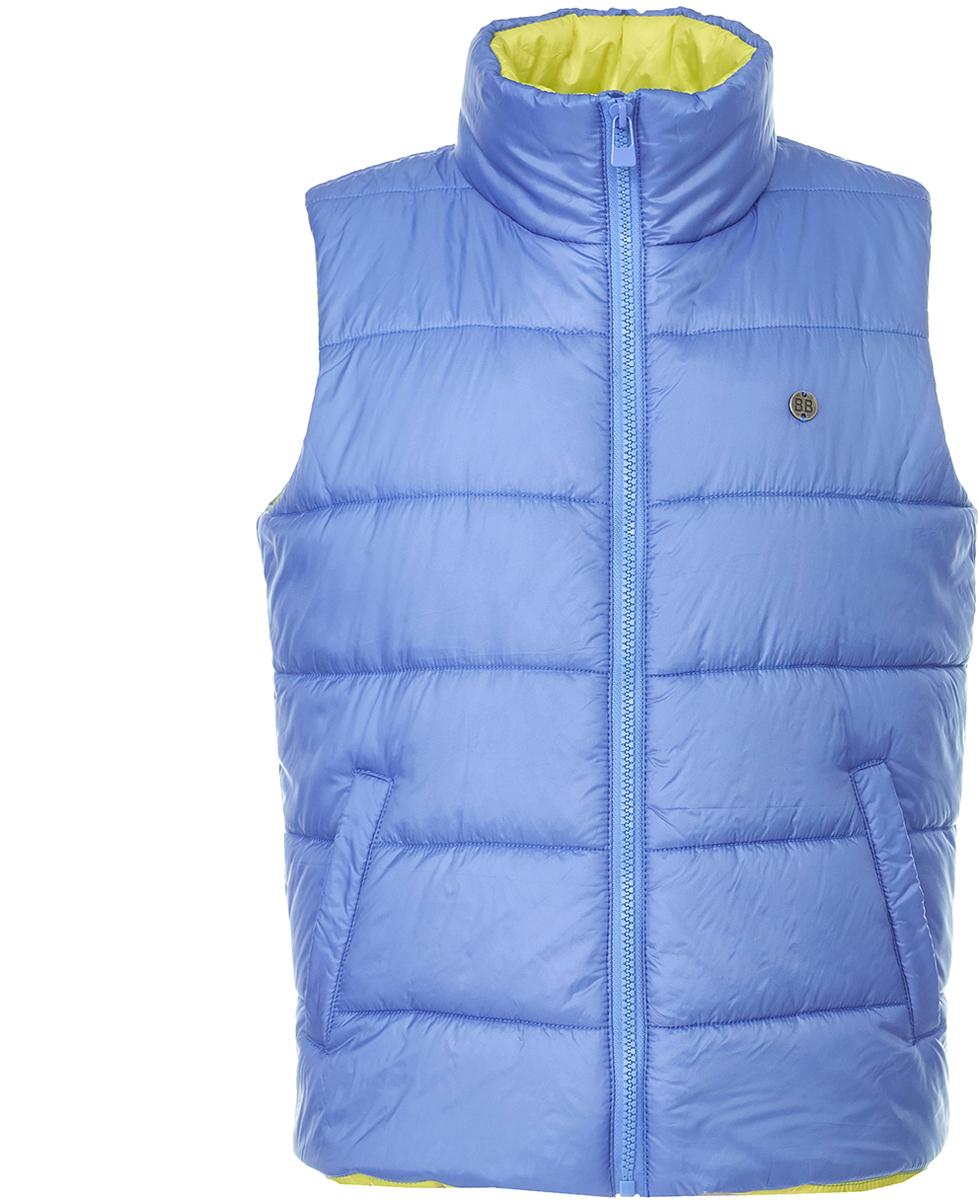 Жилет утепленный для мальчика Button Blue, цвет: синий. 118BBBC47013700. Размер 158
