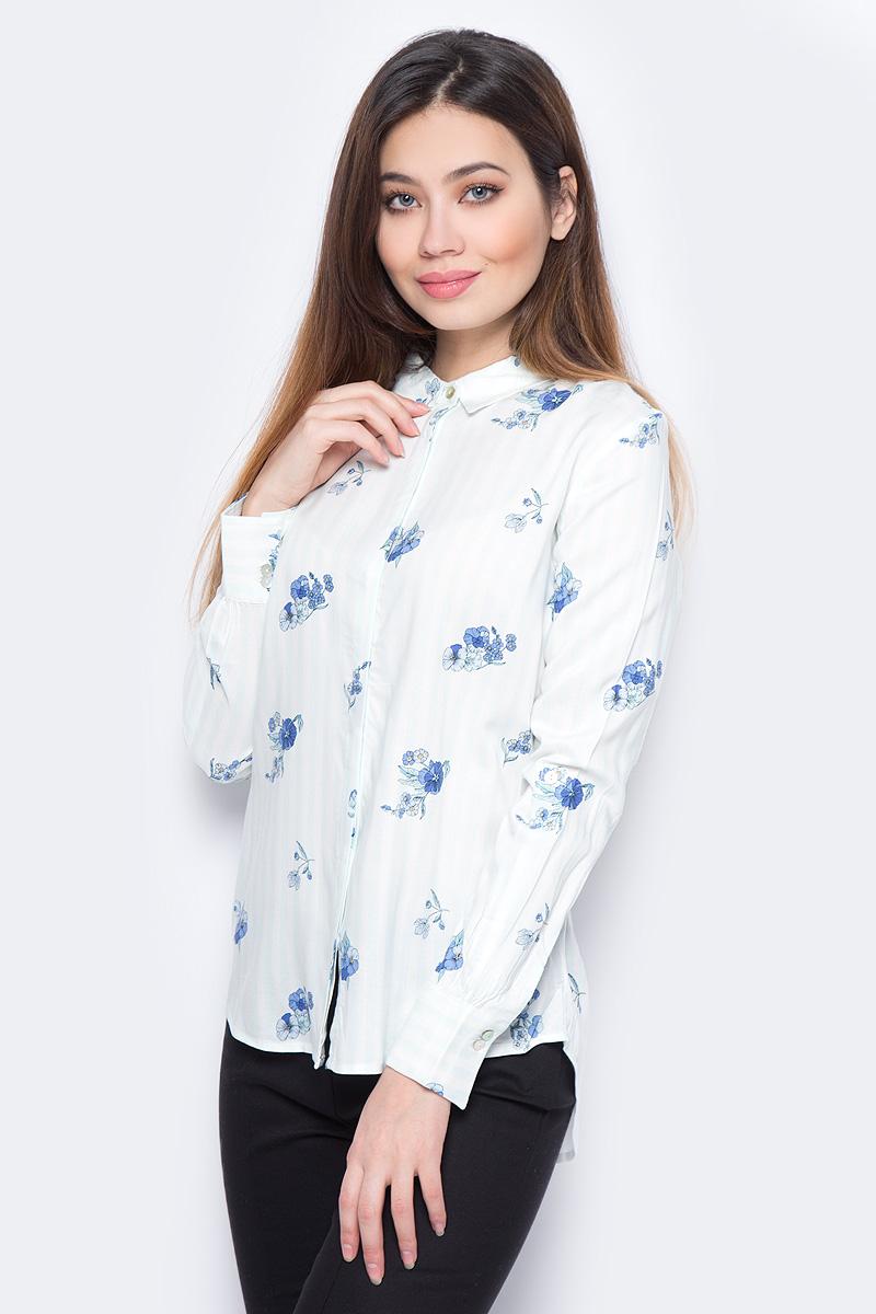 Блузка женская Sela, цвет: голубой. B-312/238-8131. Размер 44 блузка женская averi цвет голубой 1440 размер 50 52