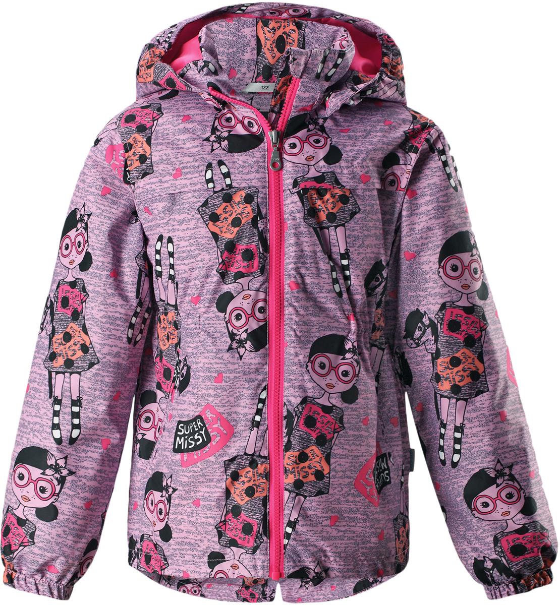 Куртка для девочки Lassie, цвет: розовый. 721724R4161. Размер 116721724R4161Детская куртка Lassie идеально подойдет для ребенка в холодное время года. Куртка изготовлена из водоотталкивающей и ветрозащитной ткани. Материал отличается высокой устойчивостью к трению, благодаря специальной обработке полиуретаном поверхность изделия отталкивает грязь и воду, что облегчает поддержание аккуратного вида одежды, дышащее покрытие с изнаночной части не раздражает даже самую нежную и чувствительную кожу ребенка, обеспечивая ему наибольший комфорт. Куртка застегивается на пластиковую застежку-молнию с защитой подбородка, благодаря чему ее легко надевать и снимать. Края рукавов дополнены неширокими эластичными манжетами. Спереди куртка дополнена двумя прорезными кармашками. Также модель дополнена светоотражающими элементами для безопасности в темное время суток. Все швы проклеены, не пропускают влагу и ветер.