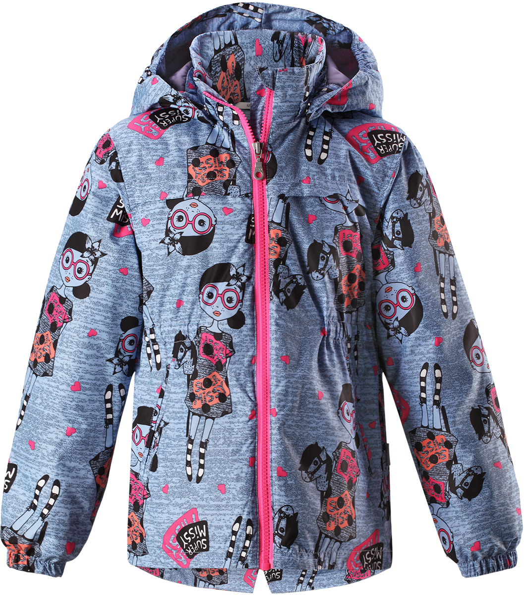 Куртка для девочки Lassie, цвет: синий. 721724R6161. Размер 110721724R6161Детская куртка Lassie идеально подойдет для ребенка в холодное время года. Куртка изготовлена из водоотталкивающей и ветрозащитной ткани. Материал отличается высокой устойчивостью к трению, благодаря специальной обработке полиуретаном поверхность изделия отталкивает грязь и воду, что облегчает поддержание аккуратного вида одежды, дышащее покрытие с изнаночной части не раздражает даже самую нежную и чувствительную кожу ребенка, обеспечивая ему наибольший комфорт. Куртка застегивается на пластиковую застежку-молнию с защитой подбородка, благодаря чему ее легко надевать и снимать. Края рукавов дополнены неширокими эластичными манжетами. Спереди куртка дополнена двумя прорезными кармашками. Также модель дополнена светоотражающими элементами для безопасности в темное время суток. Все швы проклеены, не пропускают влагу и ветер.