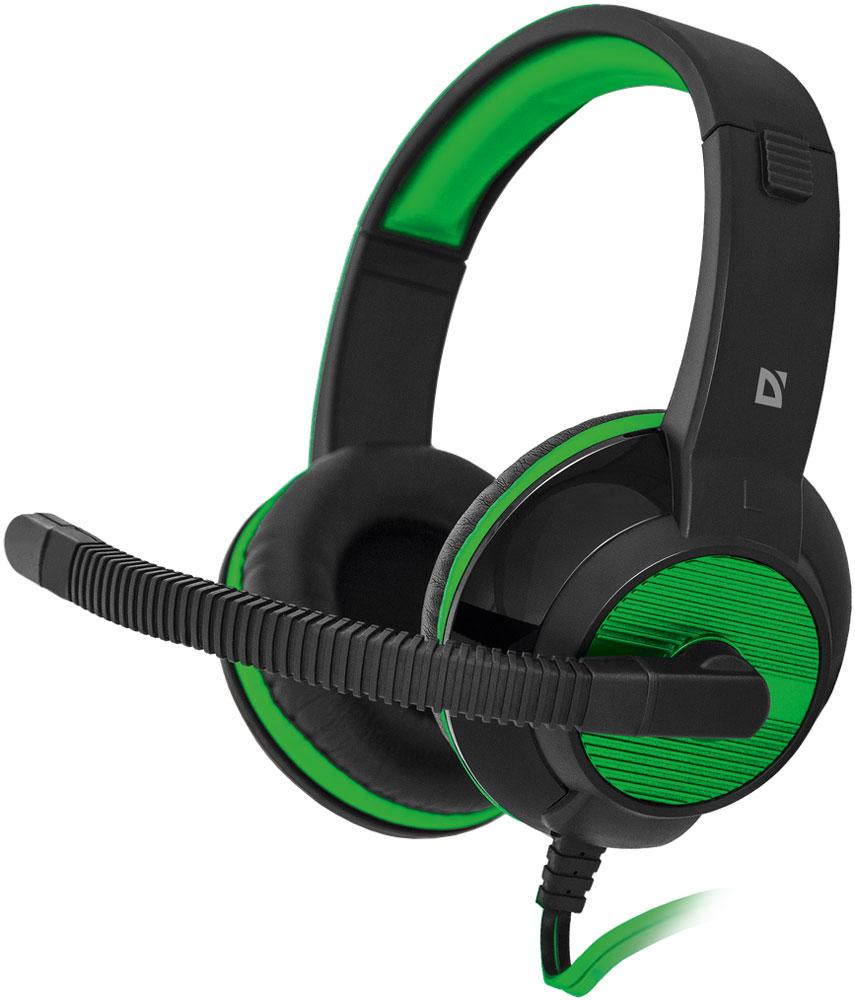 Defender Warhead G-200, Black Green игровая гарнитура гарнитура