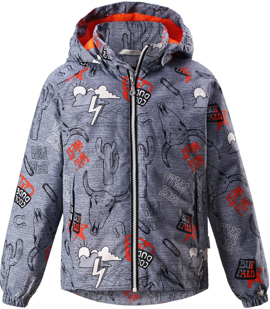 Куртка для мальчика Lassie, цвет: серый. 721725R2751. Размер 128721725R2751Детская куртка Lassie идеально подойдет для ребенка в холодное время года. Куртка изготовлена из водоотталкивающей и ветрозащитной ткани. Материал отличается высокой устойчивостью к трению, благодаря специальной обработке полиуретаном поверхность изделия отталкивает грязь и воду, что облегчает поддержание аккуратного вида одежды, дышащее покрытие с изнаночной части не раздражает даже самую нежную и чувствительную кожу ребенка, обеспечивая ему наибольший комфорт. Куртка застегивается на пластиковую застежку-молнию с защитой подбородка, благодаря чему ее легко надевать и снимать. Края рукавов дополнены неширокими эластичными манжетами. Также модель дополнена светоотражающими элементами для безопасности в темное время суток. Все швы проклеены, не пропускают влагу и ветер.