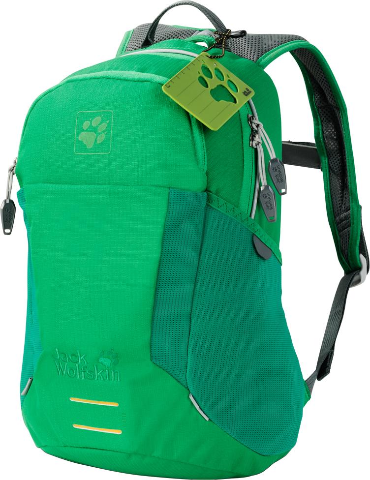 Рюкзак спортивный Jack Wolfskin Kids Moab Jam, цвет: зеленый. 2006091-40822006091-4082Дети всегда готовы запрыгнуть на велосипед и отправиться на игровую площадку со своей бутылочкой для напитков, печеньем и водонепроницаемой курткой, упакованными в рюкзак Kids Moab Jam. Идеальный для велосипедных и пеших походов, в этом рюкзаке найдется достаточно места для всего необходимого, в том числе для питьевой системы. Комфорт в ношении просто непревзойденный. Секрет комфортности этого рюкзака заключается в использовании подвесной системы, специально оптимизированной для маленьких детей. Рюкзак удобно прилегает к телу, не смещаясь и не болтаясь, отчего приключения доставляют еще большее удовольствие. В этой модели предусмотрен вентиляционный канал, обеспечивающий постоянный приток свежего воздуха и предупреждающий перегревание.