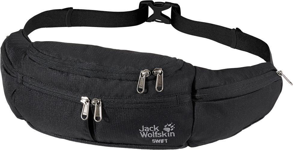 Сумка на пояс Jack Wolfskin Swift, цвет: черный. 8000792-6000 снуд jack wolfskin jack wolfskin ja021guwha98