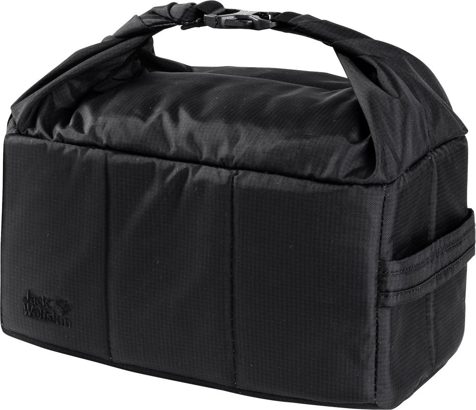 Сумка-органайзер Jack Wolfskin Photo Insert, цвет: черный. 8005891-6000 lace insert fitted faux leather skirt