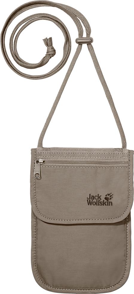 Сумка на шею Jack Wolfskin  Passport Breast Pouch , цвет: бежевый. 84210-590 - Несессеры и кошельки