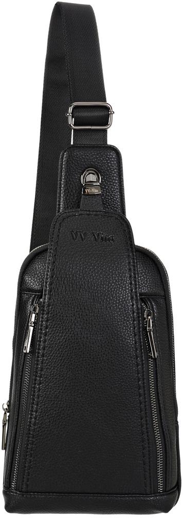 Сумка через плечо мужская Vera Victoria Vito, цвет: черный. 35-627-135-627-1Креативная оригинальная мужская сумка Vera Victoria Vito выполнена из экокожи, которая носится через плечо, что удобно при занятии спортом или путешествии. Отделение и карман на молнии с замком-защелкой делают эту модель функциональной и удобной. Имеет фирменную фурнитуру оттенка бронзы. Внутри два кармана. Нестандартная вытянутая форма позволяет вертикальное размещение в ней всех необходимых вещей. Регулируемый комфортный ремень на карабине.