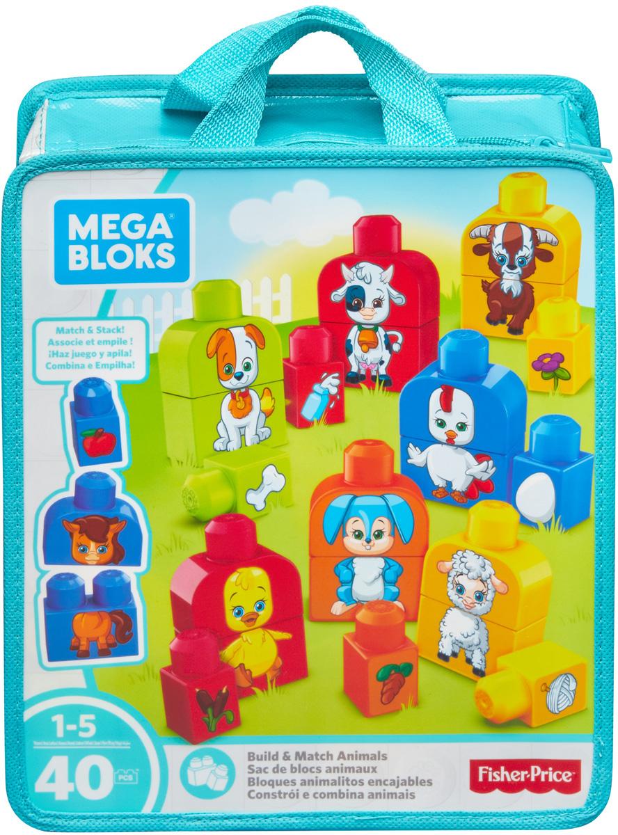 Mega Bloks Pre-School Обучающий конструктор Изучаем животных