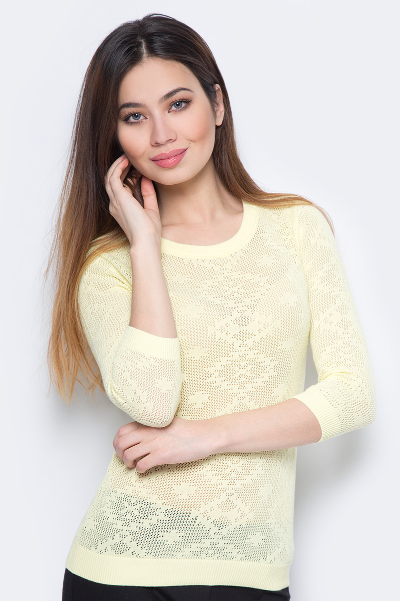 Джемпер женский Sela, цвет: желтый. JR-114/691-8111. Размер XS (42)