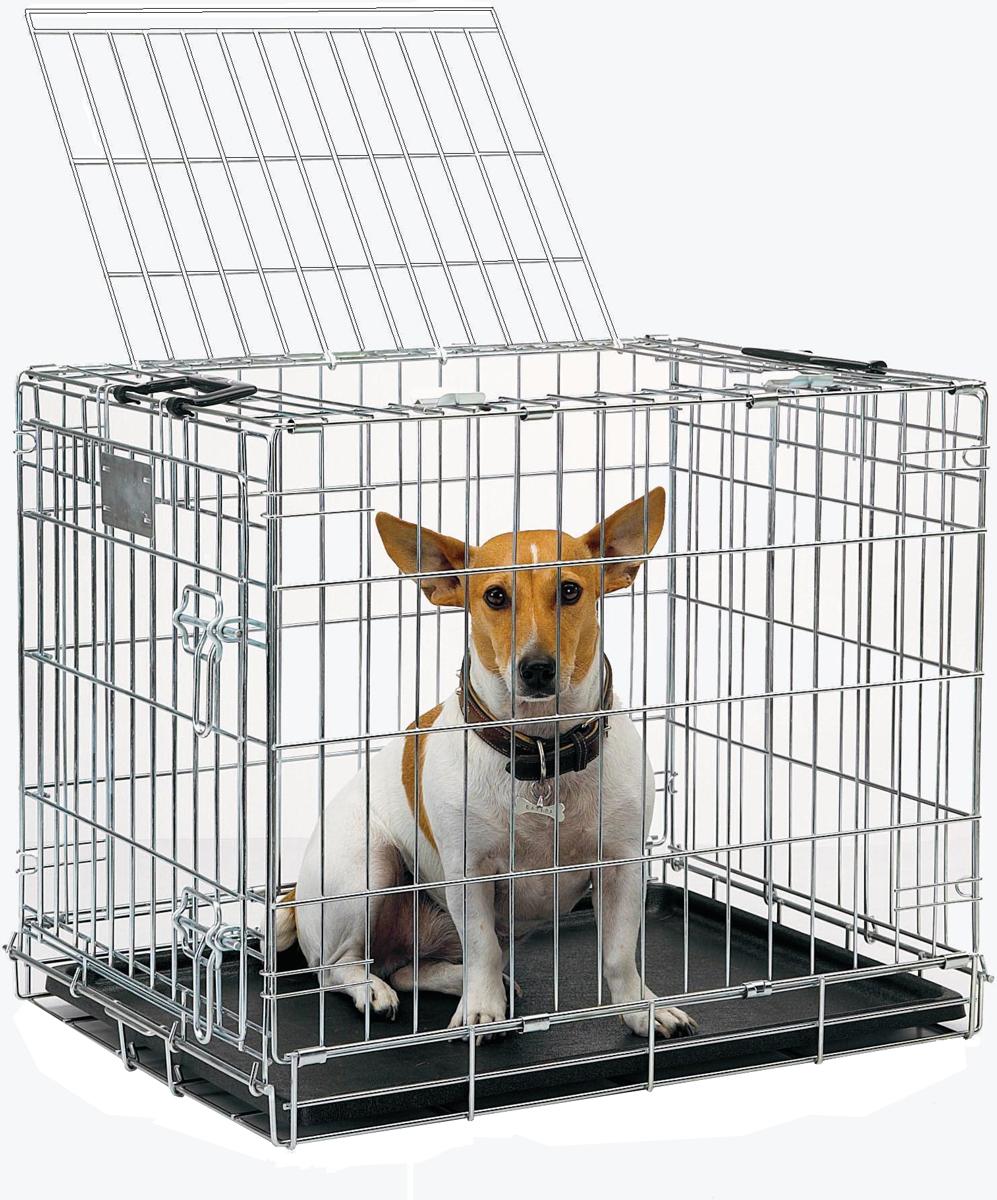 Переноска-клетка для животных Savic Residence, цвет: серый, 76 х 53 х 61 см3292-0095Переноска-клетка металлическая с хромовым покрытием.