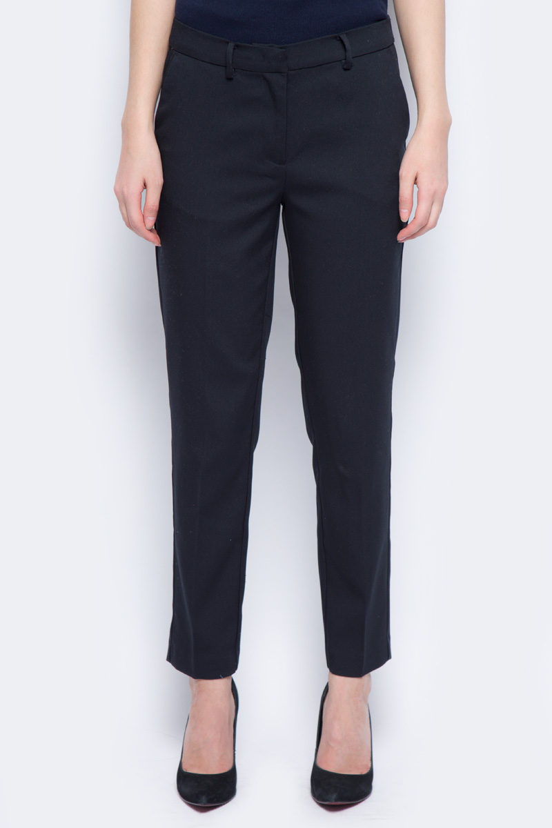 Брюки женские Sela, цвет: черный. P-115/176-8111. Размер 50 брюки sela брюки