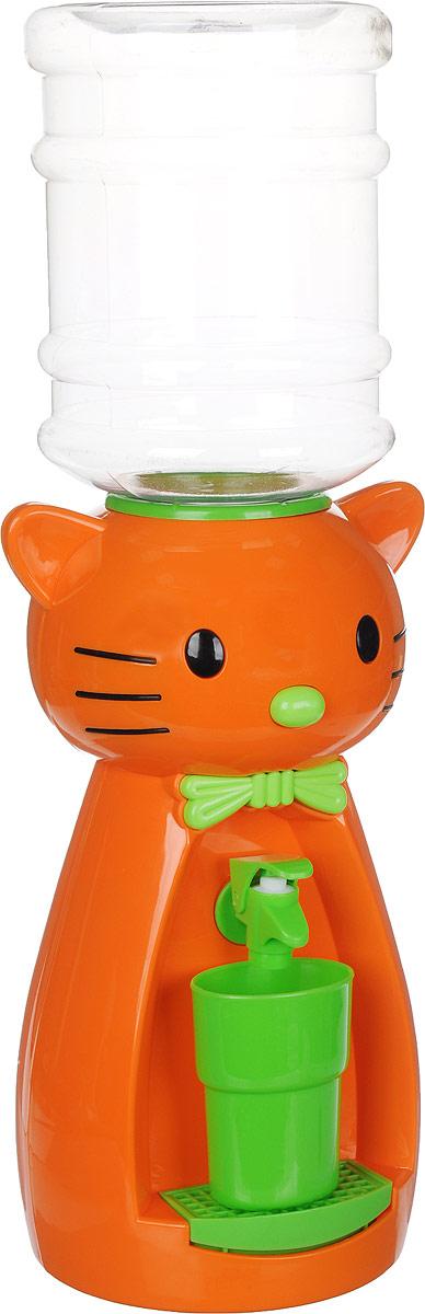 Мини-кулер для воды и сока HITT Мультик. Китти 2 л, цвет: оранжевый, салатовыйН25200_оранжевый, салатовый