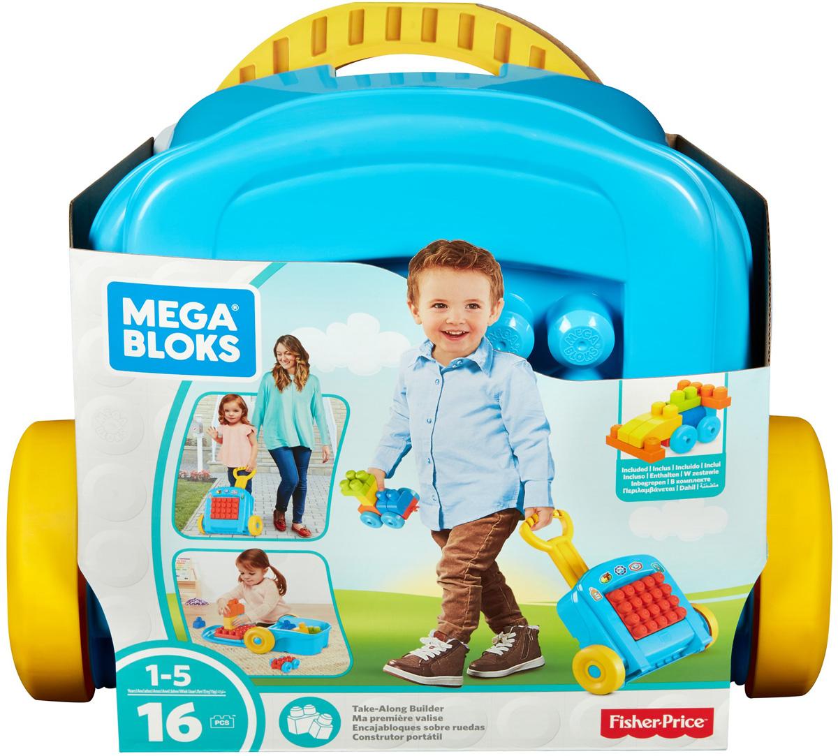 Mega Bloks Pre-School Мобильный конструктор Чемоданчик - Конструкторы