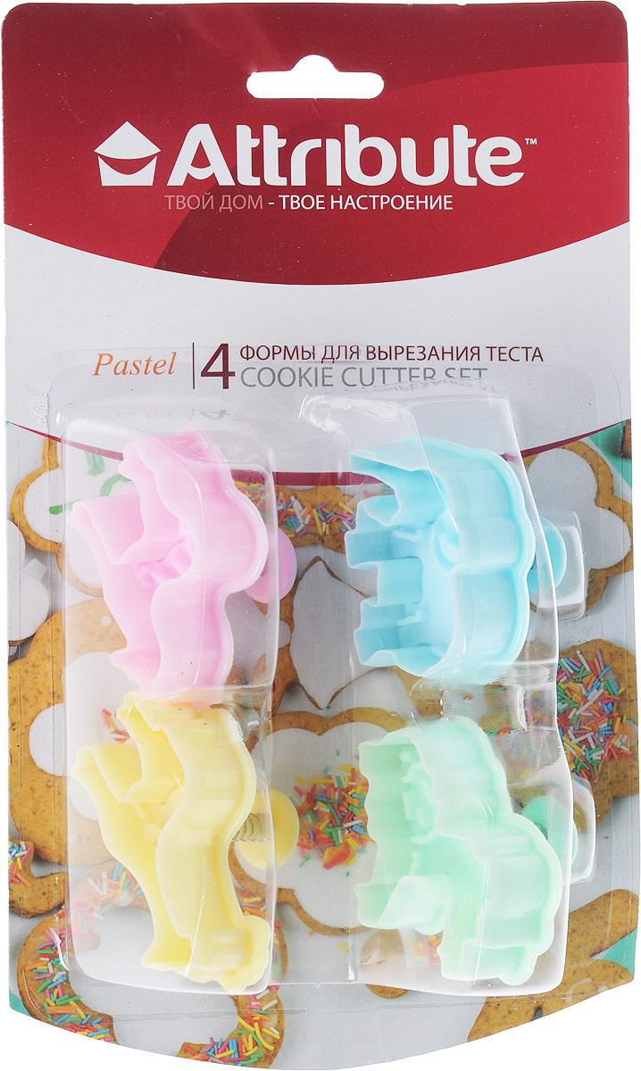 Набор форм для вырезания теста Attribute Pastel. Животные, 4 шт. ABP204ABP204_животныеНабор форм для вырезания теста Attribute Pastel. Животные, 4 шт. ABP204