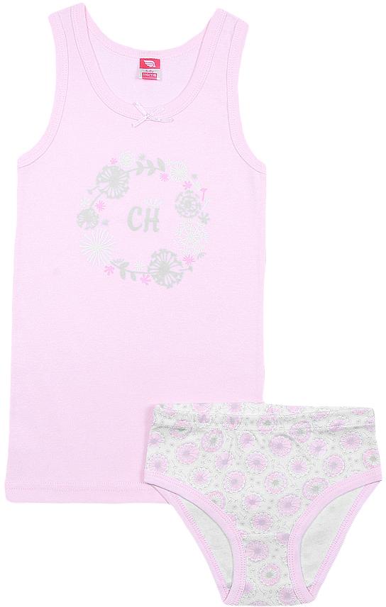 Комплект белья для девочки Cherubino: майка, трусы, цвет: розовый. CAK 3435. Размер 92 цена
