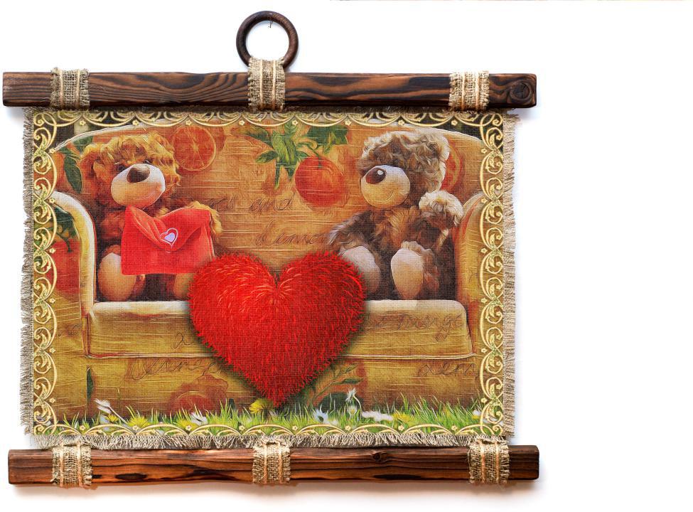 Украшение декоративное Универсальный cвиток Мишки и сердце, подвесное, А41174-4-Г-РДекоративное подвесное украшение Универсальный свиток послужит приятным и полезным сувениром для близких и знакомых и, несомненно, доставит массу положительных эмоций своему обладателю. Размер: формат А4, горизонтальный.