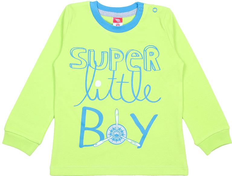 Лонгслив для мальчика Cherubino, цвет: зеленый. CWB 61747 (167). Размер 86CWB 61747 (167)Яркий лонгслив Cherubino, оформленный контрастной принтованной надписью, станет идеальным дополнением к гардеробу вашего ребенка. Изделие изготовлено из интерлока, благодаря чему оно очень мягкое и приятное на ощупь, не раздражает нежную кожу ребенка и хорошо вентилируется. Круглый вырез горловины обработан контрастной притачной планкой из рибаны с лайкрой, низ рукавов дополнен мягкими эластичными манжетами. На плече предусмотрены кнопки для легкого переодевания ребенка.