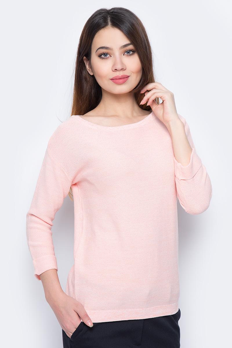 Джемпер женский Sela, цвет: светло-розовый. JR-114/698-8111. Размер XXL (52)