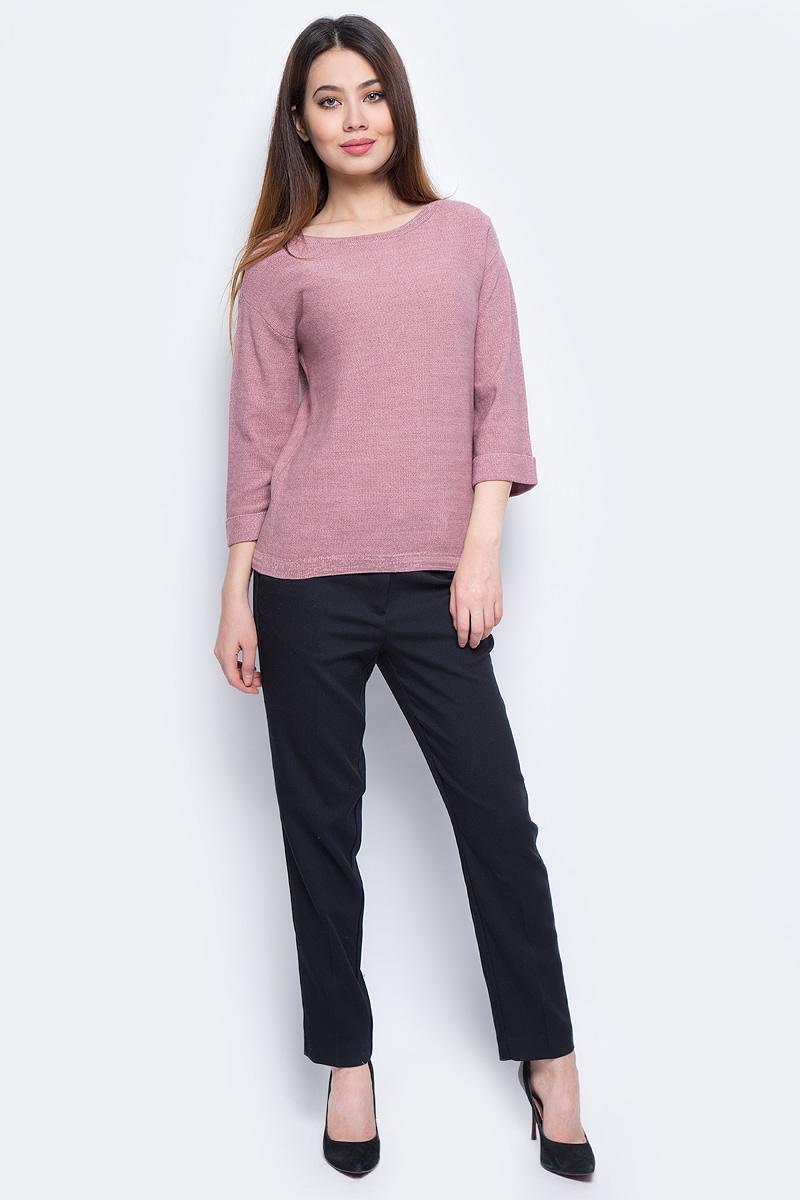 Джемпер женский Sela, цвет: розовый. JR-114/871-8131. Размер XS (42)JR-114/871-8131Стильный женский джемпер Sela выполнен из хлопка с добавлением акрила.Модель с круглым вырезом горловины и рукавами-колокол.