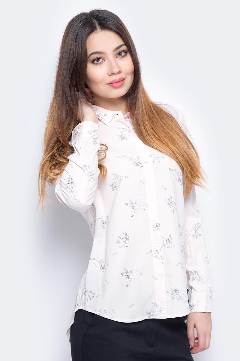 Блузка женская Sela, цвет: розовый. B-312/680-8131. Размер 46 блузка miamoda klingel цвет розовый белый