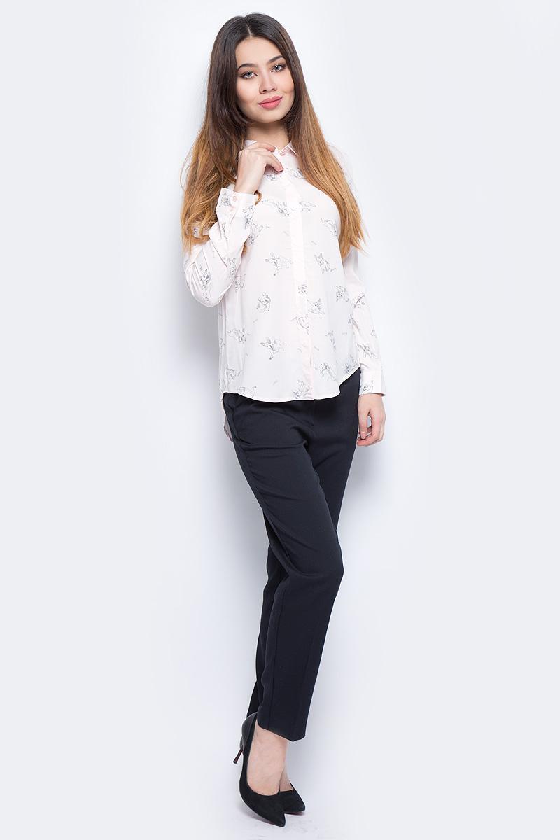 Блузка женская Sela, цвет: розовый. B-312/680-8131. Размер 48B-312/680-8131Стильная женская блузка Sela выполнена из 100% вискозы. Модель с отложным воротником и длинными рукавами.