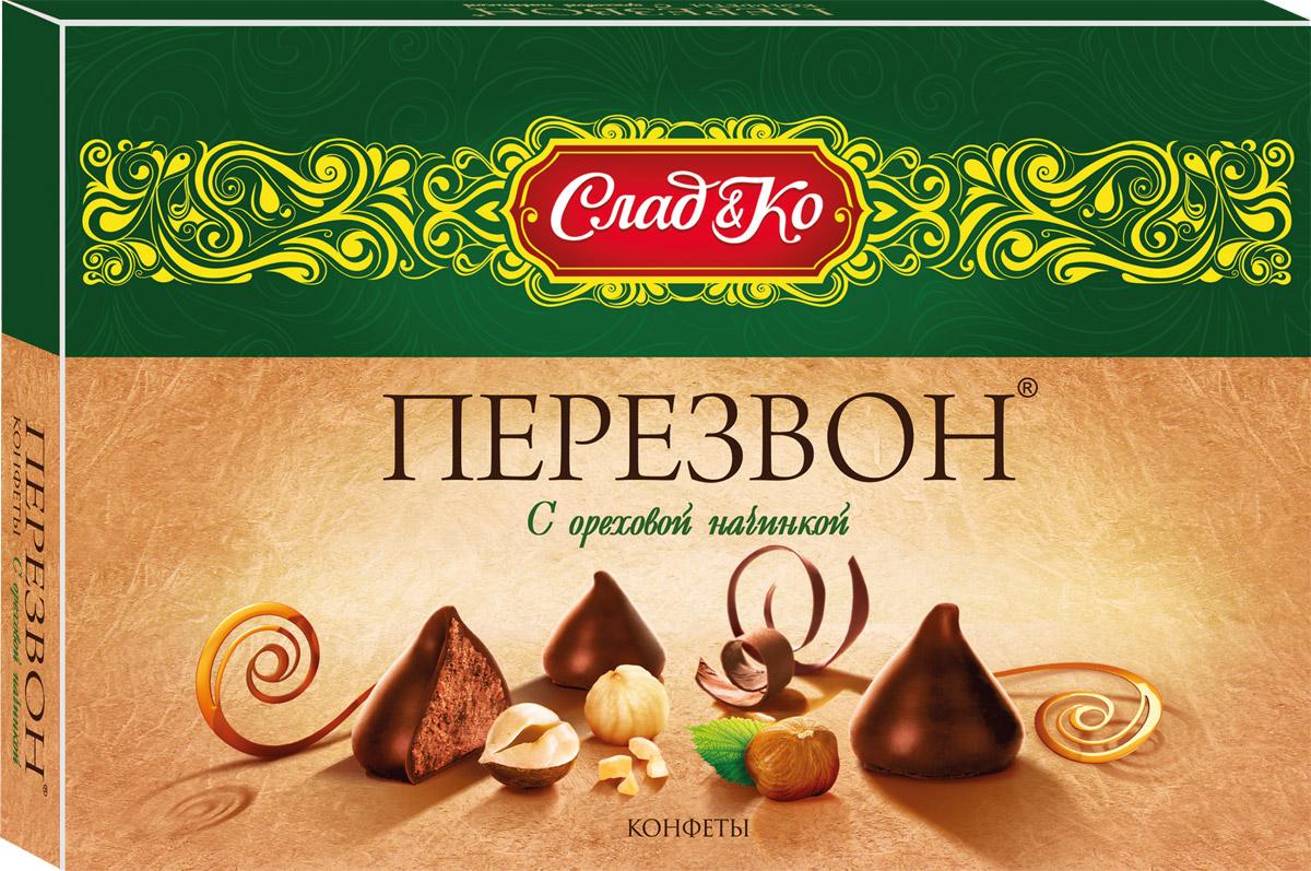 Сладко Перезвон с ореховой начинкой набор конфет, 245 г lumiere халвичные конфеты с начинкой 155 г