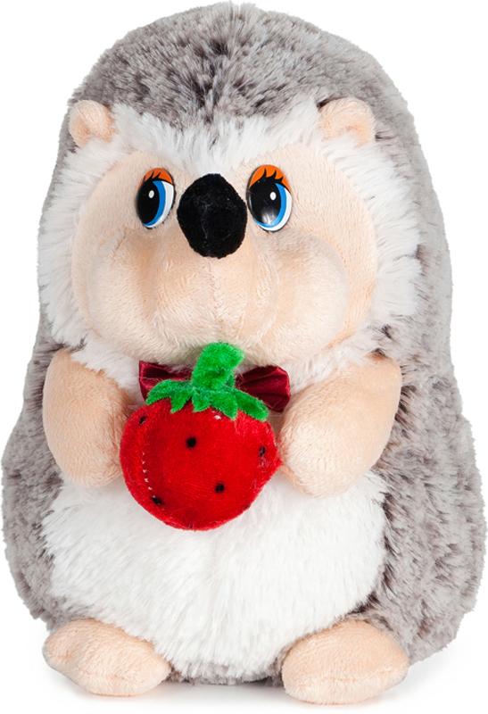 Maxitoys Мягкая озвученная игрушка Ежик с клубничкой 19 см maxitoys мягкая озвученная игрушка мухомор мухоморыч 19 см