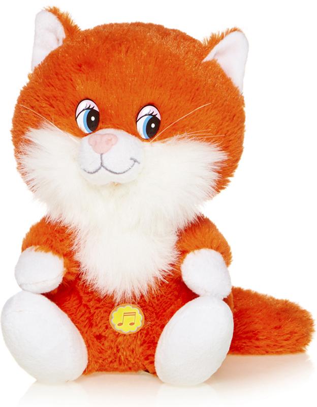 Maxitoys Мягкая озвученная игрушка Котенок Лапушка Рыжий 20 см, Maxi Toys