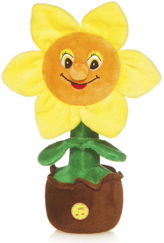 Maxitoys Мягкая озвученная игрушка Солнечный Цветочек в горшочке 25 см