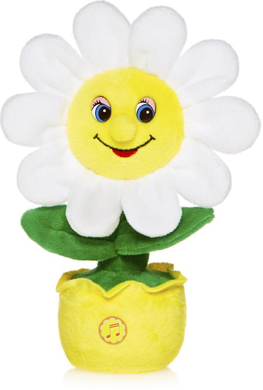 Maxitoys Мягкая озвученная игрушка Веселая Ромашка в горшочке 26 см