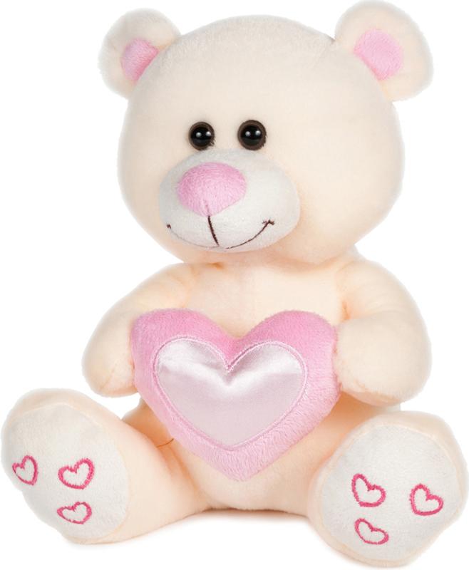 Maxitoys Мягкая игрушка Мишка Влюбленный цвет бежевый 22 см maxitoys мягкая игрушка мишка тони с бантом 20 см