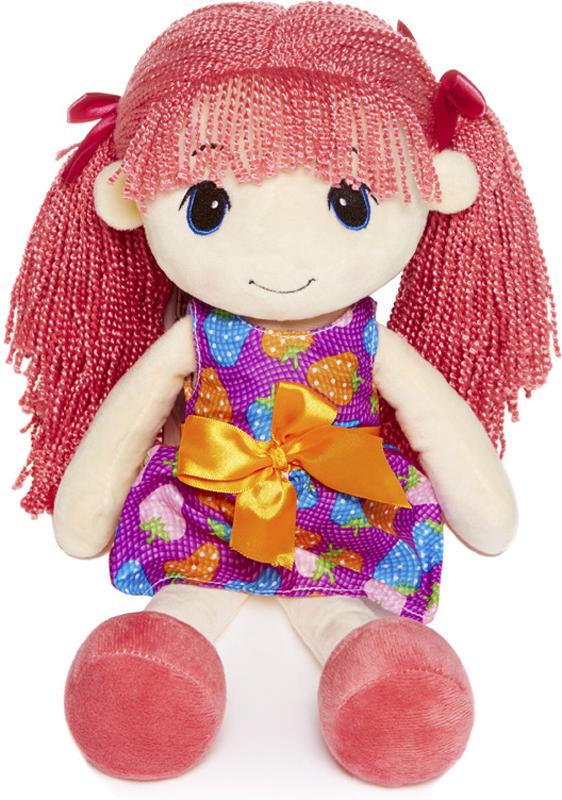 Maxitoys Мягкая кукла Стильняшка с розовыми волосами 40 см maxitoys подушка с ручками