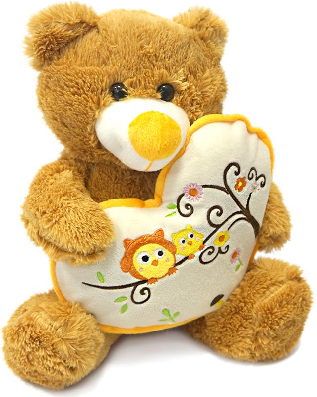 Maxitoys Мягкая игрушка Мишка Берни с сердцем 30 см мягкие игрушки maxitoys собачка наденька с сердцем