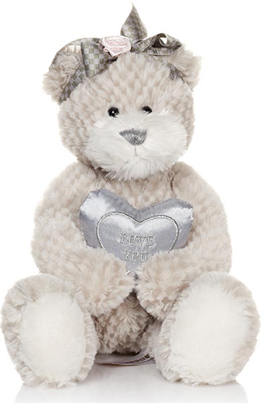 Maxitoys Мягкая игрушка Мишка Белла с сердечком 23 см maxitoys мягкая игрушка мишка тони с бантом 20 см