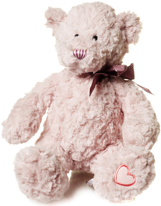 Maxitoys Мягкая игрушка Мишка Раффаелло цвет розовый 25 см мягкая игрушка собака orange чихуа kiki малиновый блеск текстиль искусственный мех розовый коричневый 25 см ld010