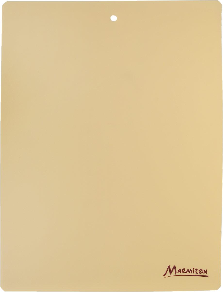Доска разделочная Marmiton, гибкая, цвет: бежевый, 38 см х 28 см17028_бежевыйДоска разделочная Marmiton, гибкая, цвет: бежевый, 38 см х 28 см