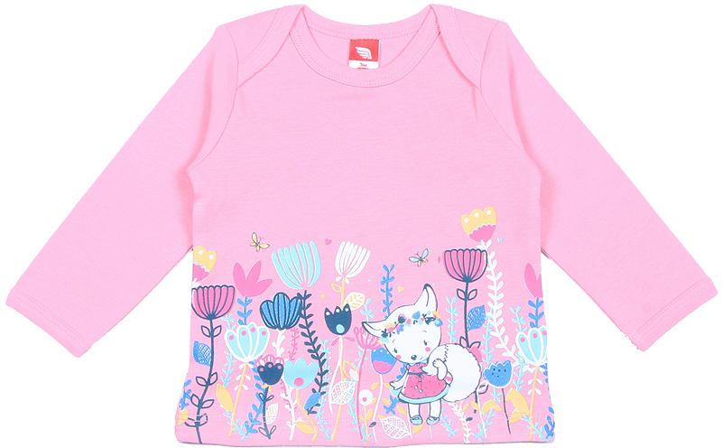 Лонгслив для девочки Cherubino, цвет: светло-розовый. CWN 61733 (164). Размер 56CWN 61733 (164)Яркий лонгслив Cherubino, оформленный цветочным принтом, станет идеальным дополнением к гардеробу маленькой принцессы. Изделие изготовлено из интерлока, благодаря чему оно очень мягкое и приятное на ощупь, не раздражает нежную кожу ребенка и хорошо вентилируется. Верхние срезы переда и спинки, а также нижние срезы рукавов окантованы мягкой эластичной бейкой.