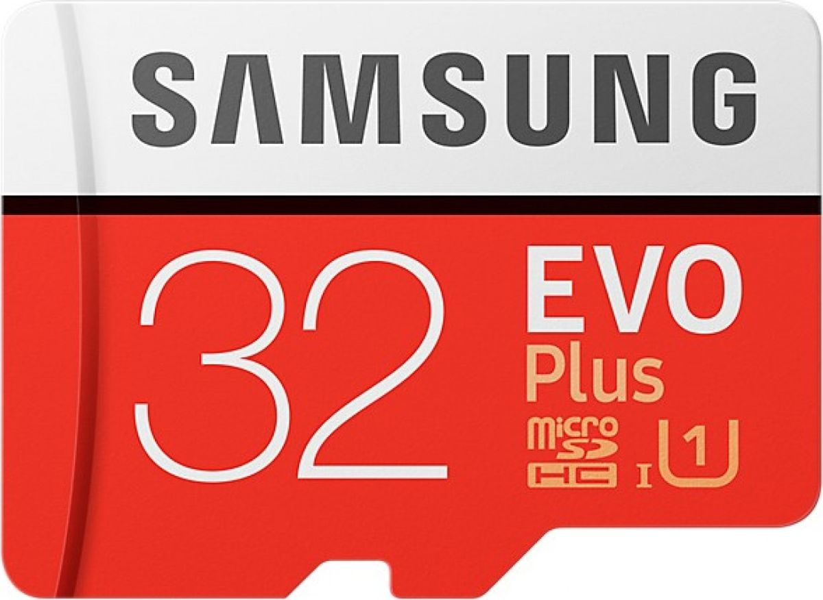 Samsung microSDHC EVO+ V2 32 GB карта памяти с адаптеромSAM-MB-MC32GARUКарты серии EVO Plus идеально подходят для записи самых дорогих моментов в жизни и последующем чтении 4K UHD видео на совместимом устройстве. Запись и воспроизведение видео 4K UHD без сбоев возможно благодаря высокой скорости чтения и записи до 100 млн байт / сек и 90 млн байт / сек, соответственно; с помощью карты EVO Plus 256 ГБ возможно передавать 3 ГБ видео на ноутбук всего за 38 секунд. Большой объем памяти в 256 ГБ достаточен для 12 часов видео 4K UHD, 33 часов видео в формате Full HD или 55200 фото. Карты micro SD совместимы с широким спектром устройств, а благодаря входящему в комплект SD-адаптеру подходит для еще большего количества устройств почти любой торговой марки, сохраняя при этом отличную скорость и производительность EVO Plus. Карты EVO Plus защищены 4-мя типами защиты: они могут выдерживать до 72 часов в морской воде, работать в экстремальных температурах, находиться в рентгеновских аппаратах аэропортов или под воздействием электро-магнитных волн, эквивалентных МРТ.