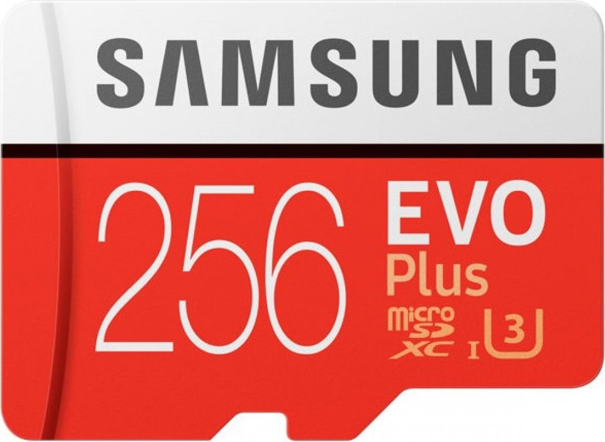 Samsung microSDHC EVO+ V2 256 GB карта памяти с адаптером