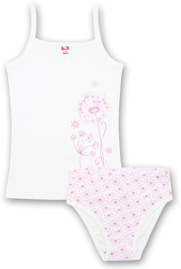 Комплект для девочки Cherubino: майка, трусы, цвет: белый, розовый. CAJ 3447. Размер 140CAJ 3447Комплект для девочки Cherubino, состоящий из нательной майки и трусиков,изготовлен из рибаны. Приятный на ощупь, мягкий и эластичныйкомплект не натирает в области швов и позволяет коже ребенка дышать.Майка на бретельках. Трусики имеют мягкую, эластичную резинку, которая неоставляет следов на коже и не стягивает живот ребенка. Посадка средняя. Такой комплект будет прекрасным дополнением в гардеробе вашей девочки.