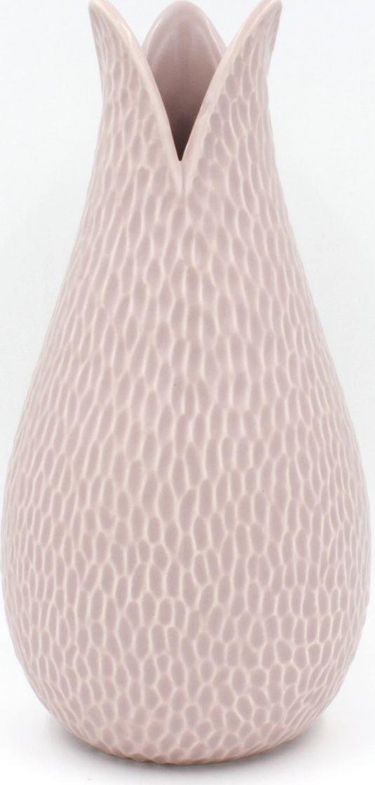 Ваза Magic Home, цвет: розовый, 25 см76808Необычная ваза, выполненная из фаянса, станет прекрасным украшением интерьера и подчеркнет его уникальность. Керамическую вазу можно преподнести в качестве практичного подарка или оригинального сувенира.